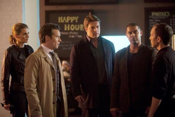 "CASTLE - ""Kill Shot"" -- A sniper on a killing spree is terrorizing New York City. With the clock ticking down to the next murder and nothing to go on except a killer with no apparent motive but to instill terror, this could prove the team's toughest case yet. The hunt is made even more complicated when Beckett begins to experience increasingly strong moments of PTSD - moments she tries hard to hide from Castle and the detectives -- on ""Castle,"" MONDAY, NOVEMBER 21 (10:01-11:00 p.m., ET), on the ABC Television Network. (ABC/RANDY HOLMES) STANA KATIC, SEAMUS DEVER, NATHAN FILLION, JON HUERTAS, ADAM PILVER"