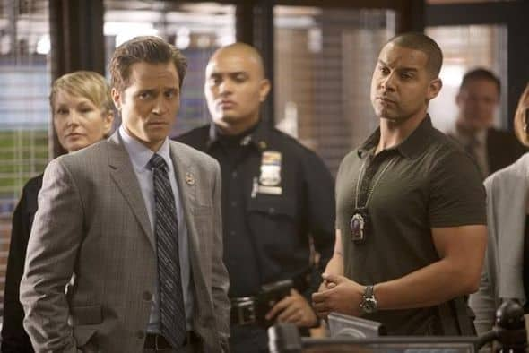 "CASTLE - ""Kill Shot"" -- A sniper on a killing spree is terrorizing New York City. With the clock ticking down to the next murder and nothing to go on except a killer with no apparent motive but to instill terror, this could prove the team's toughest case yet. The hunt is made even more complicated when Beckett begins to experience increasingly strong moments of PTSD - moments she tries hard to hide from Castle and the detectives -- on ""Castle,"" MONDAY, NOVEMBER 21 (10:01-11:00 p.m., ET), on the ABC Television Network. (ABC/RANDY HOLMES) SEAMUS DEVER, JON HUERTAS"
