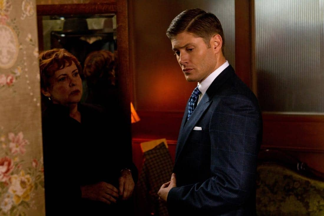 """Time After Time"" - (l-r): Catherine Barroll as Dr. Terry Cervantes, Jensen Ackles as Dean in SUPERNATURAL on The CW. Photo: Jack Rowand/The CW©2012 The CW Network, LLC. All Rights Reserved."