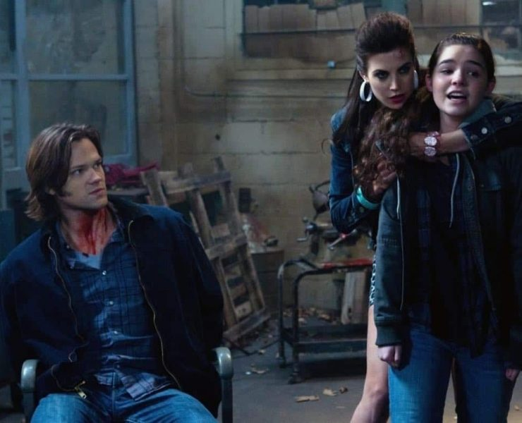 """""""Adventures in Babysitting"""" - (l-r): Jared Padalecki as Sam, Meghan Ory as Sally, Madison Mclaughlin as Krissy in SUPERNATURAL on The CW. Photo: Jack Rowand/The CW©2011 The CW Network, LLC. All Rights Reserved."""