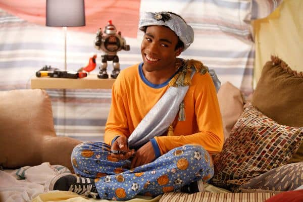 """COMMUNITY -- """"Pillows and Blankets"""" Episode 314 -- Pictured: Donald Glover as Troy -- Photo by: Tyler Golden/NBC"""
