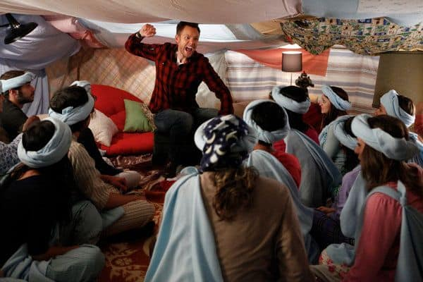 """COMMUNITY -- """"Pillows and Blankets"""" Episode 314 -- Pictured: Joel McHale as Jeff -- Photo by: Tyler Golden/NBC"""