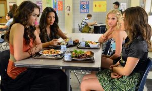 """PRETTY LITTLE LIARS - """"Kingdom of the Blind"""" - Two Liars go looking for answers, but it's the other two ladies who find answers they weren't expecting, in """"Kingdom of the Blind,"""" an all-new episode of ABC Family's hit original series, """"Pretty Little Liars,"""" airing Tuesday, June 19th (8:00 - 9:00 PM ET/PT). (ABC FAMILY/ERIC MCCANDLESS)"""