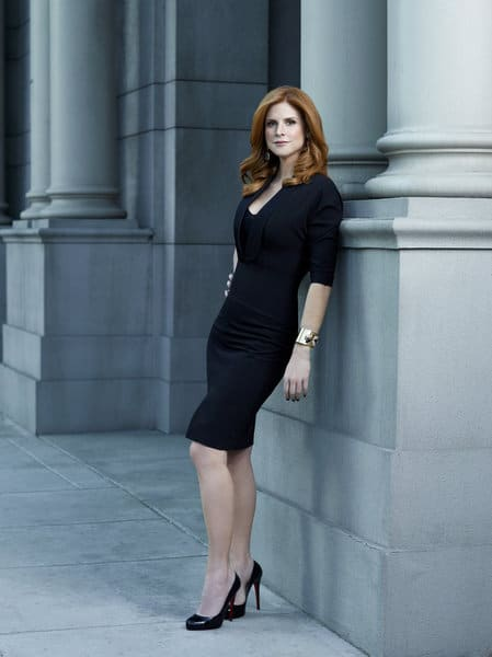 SUITS -- Season: 2 -- Pictured: Sarah Rafferty as Donna -- Photo by: Robert Ascroft/USA Network