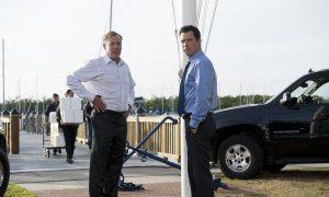 "BURN NOTICE -- ""Mixed Messages"" Episode 601 -- Pictured: (l-r) John C. McGinley as Card, Jeffrey Donovan as Michael Westen -- (Photo by Glenn Watson/USA Network)"