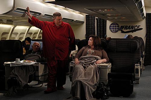 """""""The Honeymoon Is Over"""" --  Mike (Billy Gardell) and Molly (Melissa McCarthy) talk about what life will be like after their honeymoon. Photo: Monty Brinton/CBS ©2012 CBS Broadcasting, Inc. All Rights Reserved."""