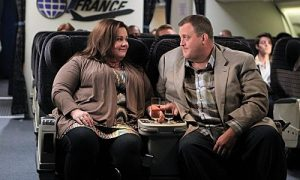 """The Honeymoon is Over"" -- Mike (Billy Gardell) and Molly (Melissa McCarthy) discuss Mike's new obsession with traveling the world. Photo: Sonja Flemming/CBS ©2012 CBS Broadcasting Inc. All Rights Reserved."