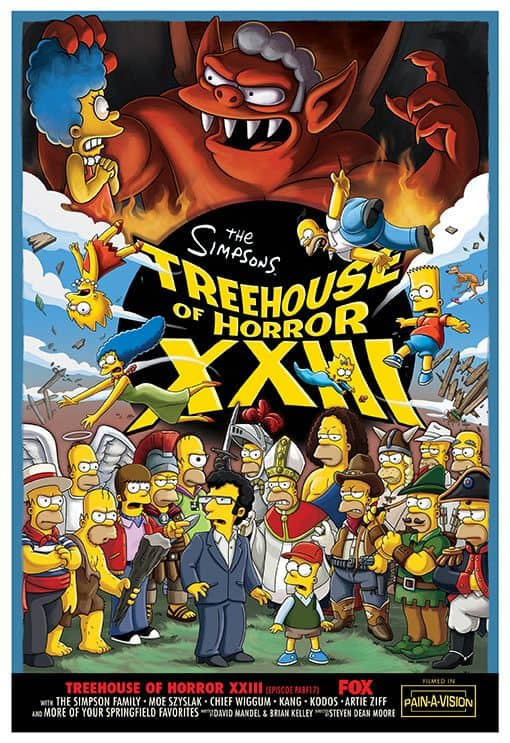The Simpsons Treehouse Of Horror XXIII Poster
