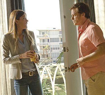 Jennifer Carpenter as Debora Morgan and Michael C. Hall as Dexter Morgan (Season 7, episode 1) - Photo: Randy Tepper/Showtime - Photo ID: dexter_701_2541