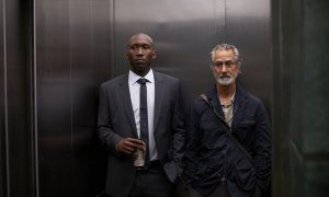"ALPHAS -- ""Falling"" Episode 208 -- Pictured: (l-r) Mahershala Ali as Nathan Cley, David Strathairn as Dr. Lee Rosen -- (Photo by: Russ Martin/Syfy)"
