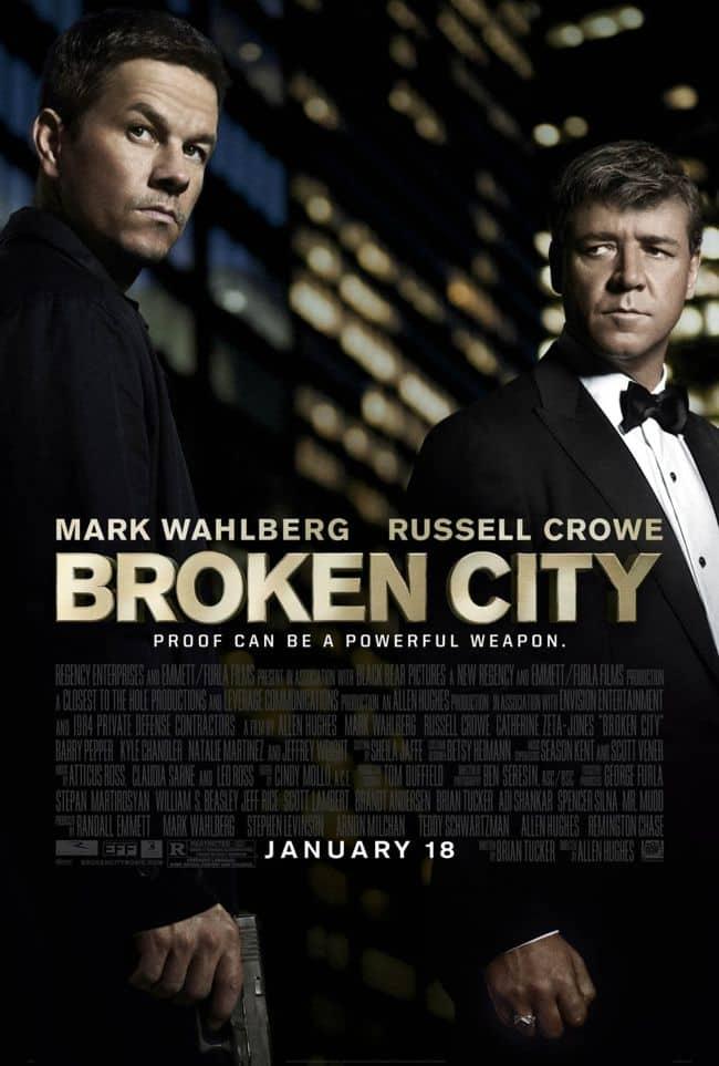 Broken City Movie Poster Mark Wahlberg Russell Crowe