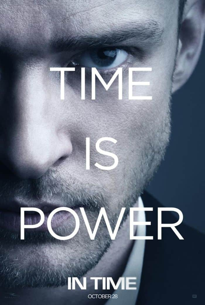 IN TIME Movie Poster Justin Timberlake