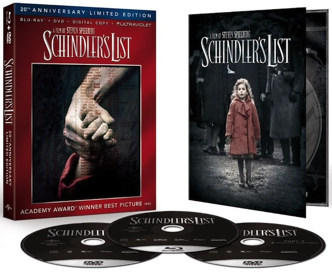 Schindlers List Bluray Box Art