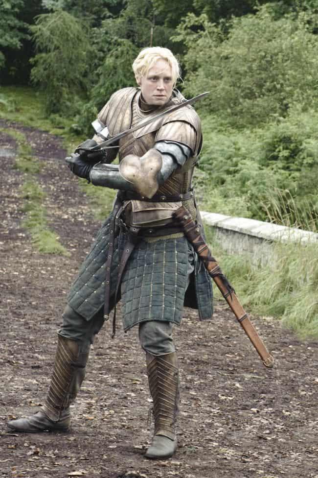 Gwendoline Christie as Brienne of Tarth Game Of Thrones Season 3 Cast