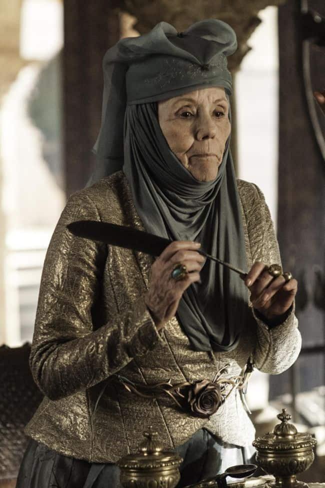 Dianna Rigg as Olenna Tyrell Game Of Thrones Season 3 Cast