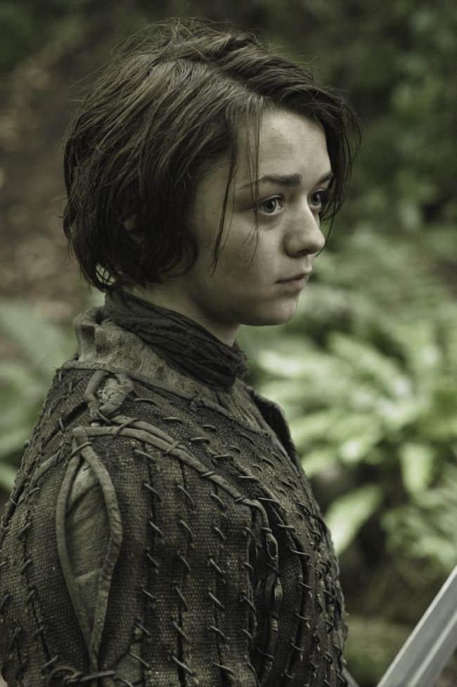 Maisie Williams as Arya Stark Game Of Thrones Season 3 Cast
