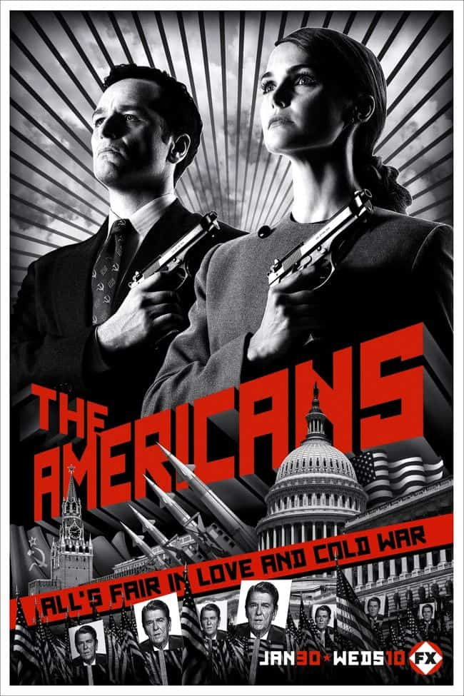 The Americans FX Poster