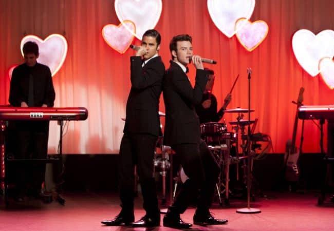 Blaine - Darren Criss - Kurt - Chris Colfer Glee