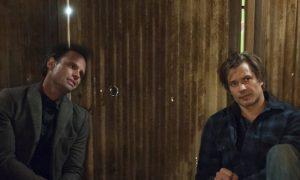 Walton Goggins as Boyd Crowder, Timothy Olyphant as Deputy U.S. Marshal Raylen Givens