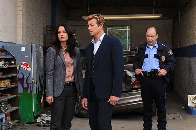 Robin Tunney (Teresa Lisbon), Simon Baker (Patrick Jane), Brad Blaisdell (Darrin Farr)