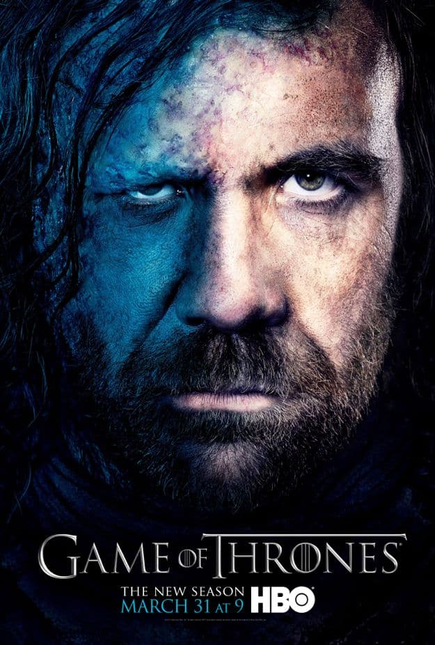 Sandor Clegane Game Of Thrones Season 3 Poster