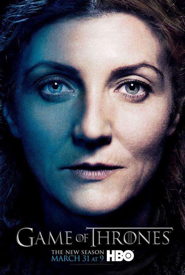 Catelyn Stark Game Of Thrones Season 3 Poster