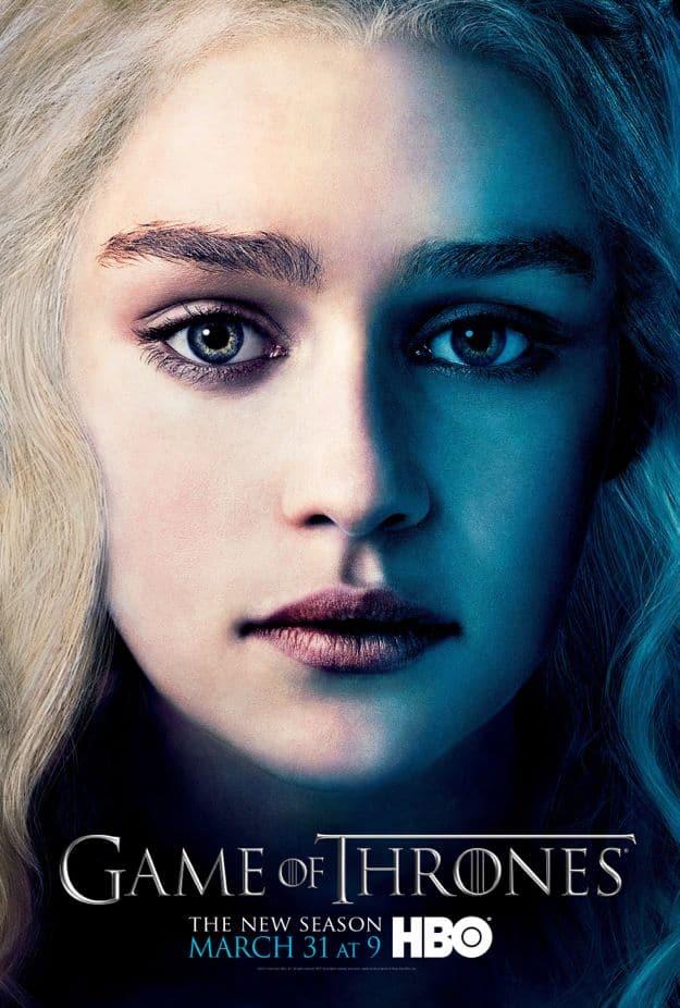 Daenerys Targaryen Game Of Thrones Season 3 Poster