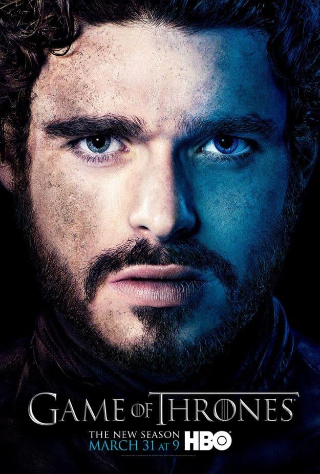 Robb Stark Game Of Thrones Season 3 Poster