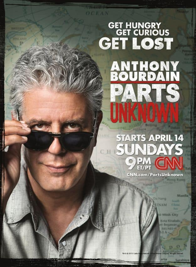 Parts Unknown Anthony Bourdain CNN Poster