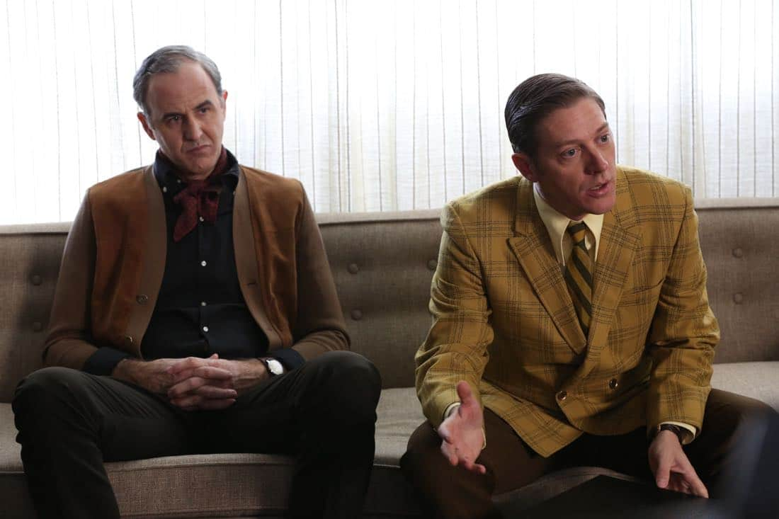"Frank Gleason (Craig Anton) and Ted Chaough (Kevin Rahm) - Mad Men_Season 6, Episode 6_""For Immediate Release"" - Photo Credit: Michael Yarish/AMC"