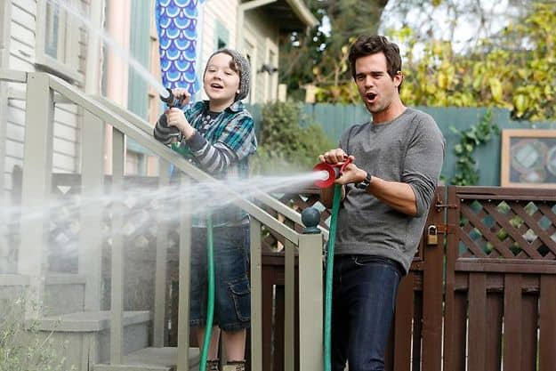 About A Boy NBC David Walton as Will, Benjamin Stockham as Marcus