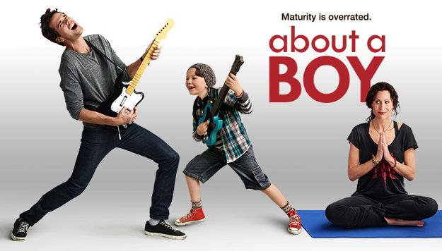 ABOUT A BOY David Walton as Will, Benjamin Stockham as Marcus and Minnie Driver as Fiona