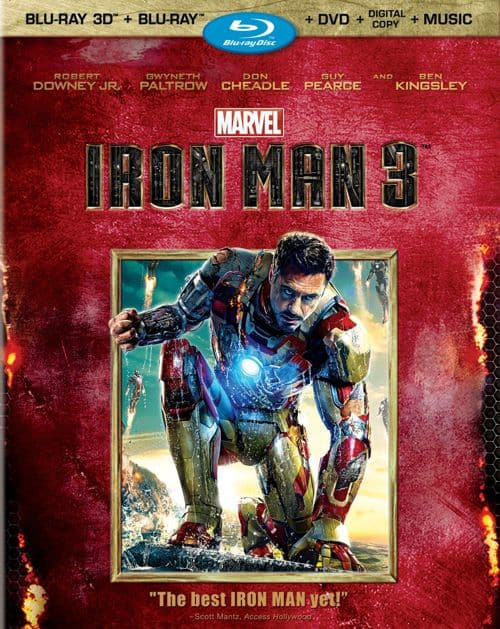 Iron Man 3 DVD Bluray 3D