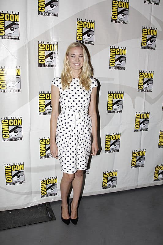 Yvonne Strahovski at the Dexter Panel at COMIC - CON 2013
