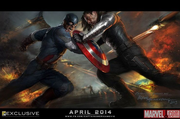 CAPTAIN AMERICA THE WINTER SOLDIER Comic Con Poster
