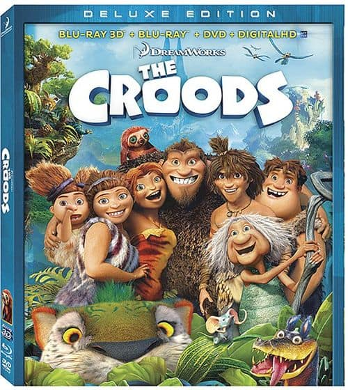 The Croods Bluray DVD 3D Deluxe Edition