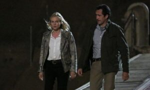 Diane Kruger as Sonya Cross, Demian Bechir as Marco Ruiz The Bridge
