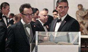 Reese (Jim Caviezel, right) rejoins Finch (Michael Emerson, left) Person Of Interest