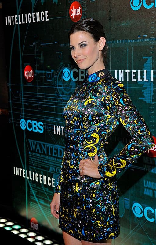 Meghan Ory attends CNET's premiere Party for the new CBS Drama series Intelligence