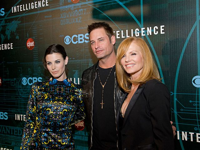 Series stars: Meghan Ory, Josh Holloway and Marg Helgenberger attend CNET's premiere Party for the new CBS Drama series
