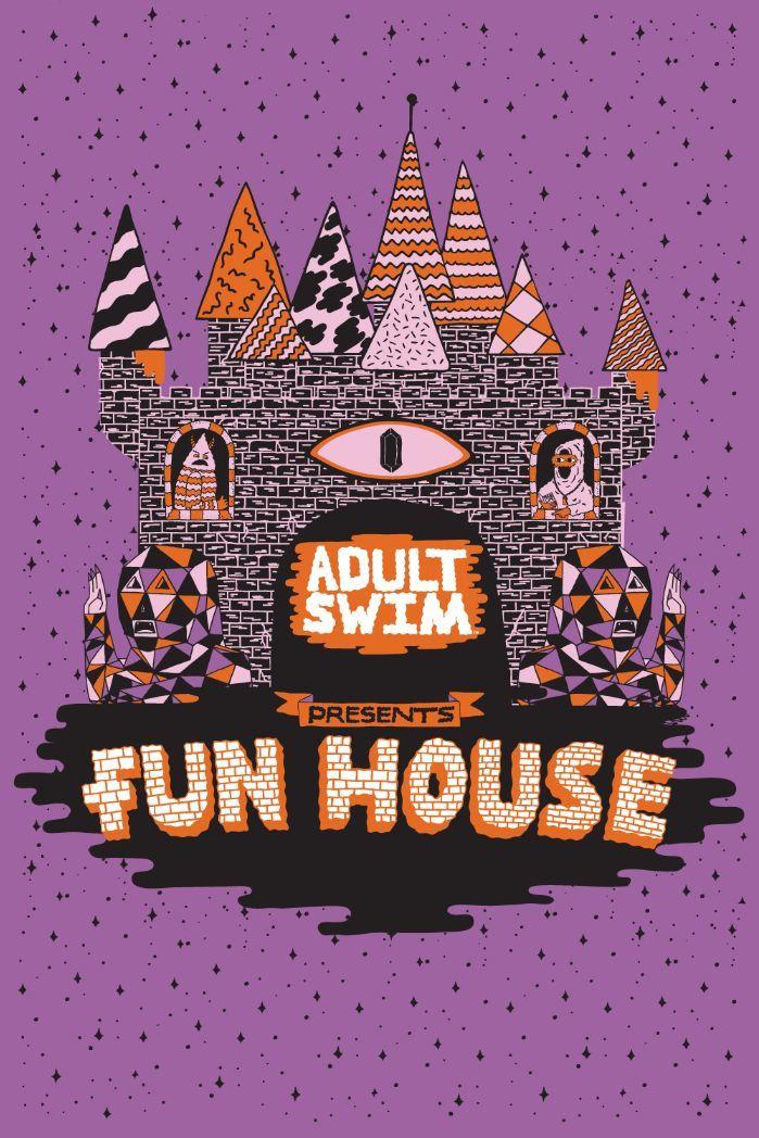Adult Swin Fun House Postcard
