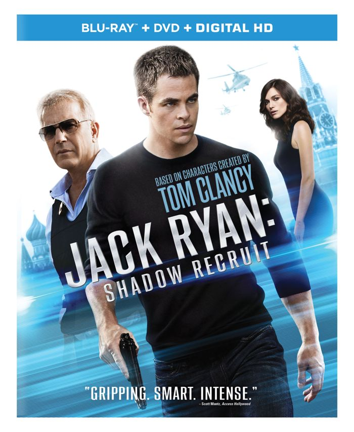 JACK RYAN SHADOW RECRUIT Blu-ray DVD