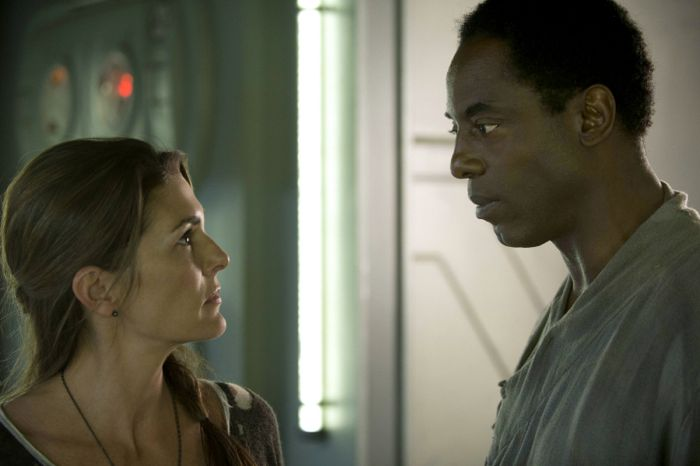 The 100 Paige Turco as Abby and Isaiah Washington as Chancellor Jaha