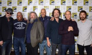 Tommy Flanagan, Paris Barclay (Executive Producer), Mark Boone, Junior, David Labrava, Kim Coates, Theo Rossi, Niko Nicotera Sons Of Anarchy San Diego Comic Con 2014