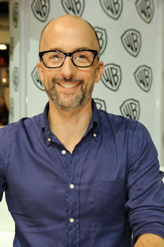Jim Rash (voice of the Marquess of Queensberry) during the MIKE TYSON MYSTERIES signing in the Warner Bros. booth at Comic-Con 2014