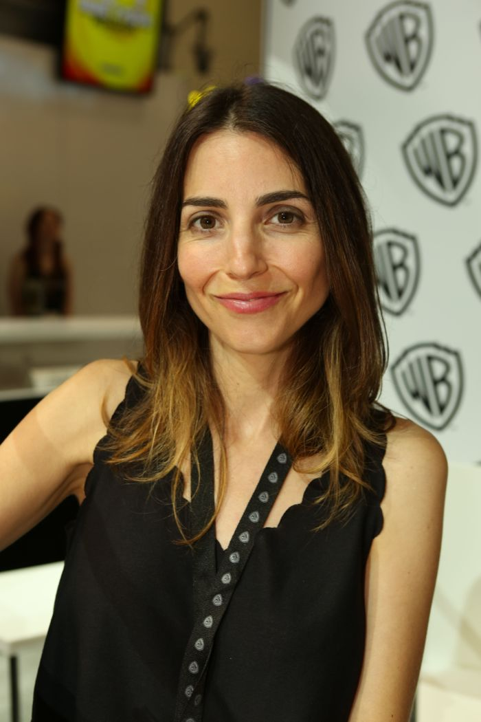 Rachel Ramras (voice of Yung Hee, Mike's adopted daughter in the show) during the MIKE TYSON MYSTERIES signing in the Warner Bros. booth at Comic-Con 2014