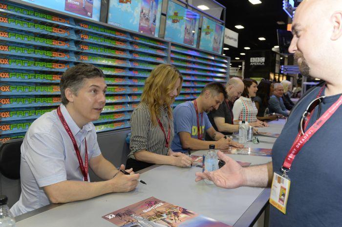 Chris Parnell, Judy Greer, Lucky Yates Archer San Diego Comic Con 2014