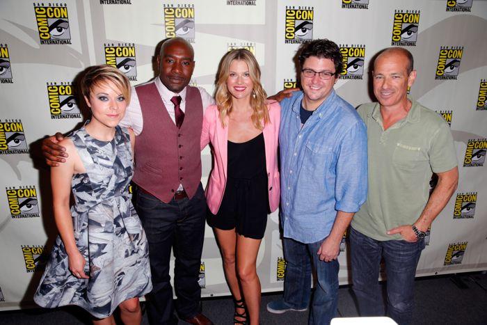 Actress Tina Majorino, actor Morris Chestnut, actress Ali Larter, producer David Wilcox, and writer/producer Howard Gordon Legends TNT San Diego Comic Con 2014
