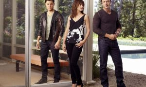 SATISFACTION -- Season:1 -- Pictured: (l-r) Blair Redford as Simon, Stephanie Szostak as Grace Truman, Matt Passmore as Neil Truman