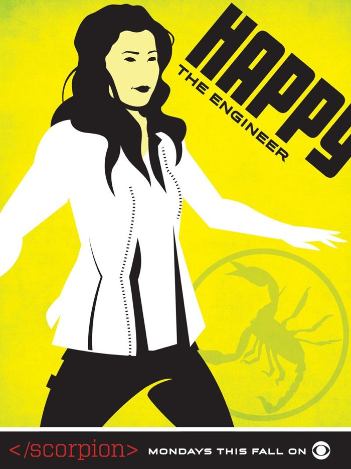 Scorpion Comic Con Poster Happy